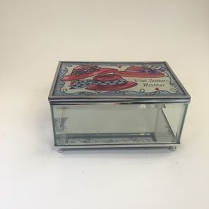 Red Hatters Matter Glass Trinket Box!